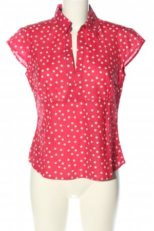 Tommy Hilfiger Kurzarm-Bluse rot-weiß Punktemuster Casual-Look