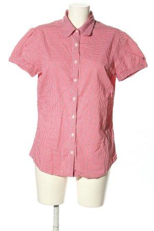 Tommy Hilfiger Kurzarm-Bluse pink-weiß Allover-Druck Casual-Look