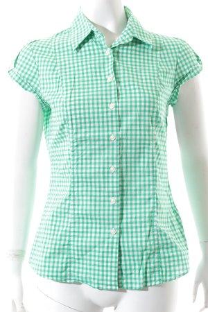 Tommy Hilfiger Kurzarm-Bluse grün-weiß