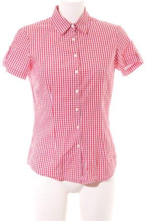 Tommy Hilfiger Kurzarmhemd rot-weiß Allover-Druck Business-Look