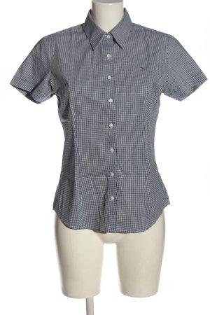 Tommy Hilfiger Koszula z krótkim rękawem czarny-biały Na całej powierzchni