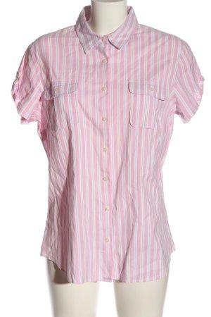 Tommy Hilfiger Kurzarmhemd pink-weiß Allover-Druck Casual-Look