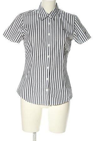 Tommy Hilfiger Kurzarmhemd schwarz-weiß Streifenmuster Casual-Look