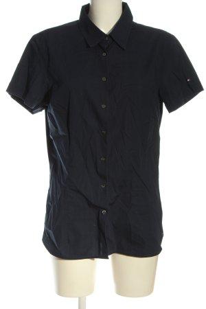 Tommy Hilfiger Shirt met korte mouwen blauw zakelijke stijl