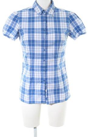 Tommy Hilfiger Kurzarmhemd blau-weiß Allover-Druck Business-Look