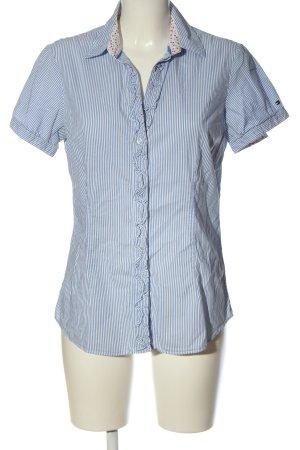 Tommy Hilfiger Kurzarmhemd blau-weiß Streifenmuster Business-Look