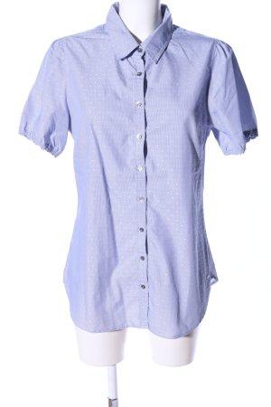 Tommy Hilfiger Camicia a maniche corte blu-bianco motivo a pallini stile casual