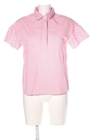 Tommy Hilfiger Kurzarmhemd pink-weiß Streifenmuster Business-Look