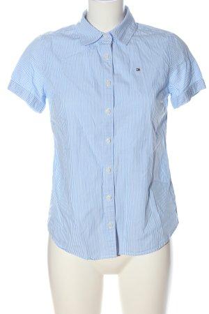 Tommy Hilfiger Kurzarmhemd blau-weiß Streifenmuster Casual-Look
