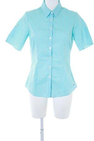 Tommy Hilfiger Kurzarmhemd hellblau-weiß klassischer Stil
