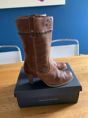 Tommy Hilfiger Short Boots brown-light brown leather