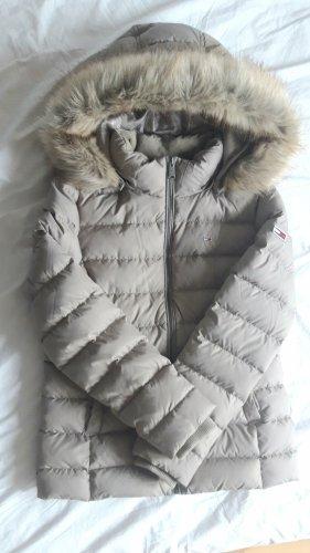 tommy Hilfiger L 40 Daunenjacke Jacke Winterjacke neu grau beige