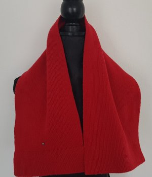 Tommy Hilfiger Bufanda de lana rojo oscuro
