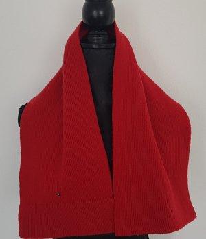 Tommy Hilfiger Lammwolle Schal, (dunkel)rot, super Zustand