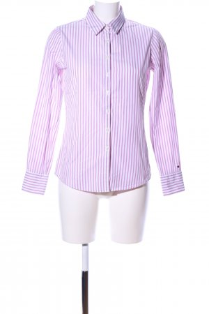 Tommy Hilfiger Langarm-Bluse pink-weiß Allover-Druck Casual-Look