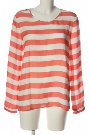 Tommy Hilfiger Langarm-Bluse rot-weiß Streifenmuster Casual-Look