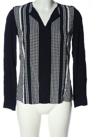 Tommy Hilfiger Langarm-Bluse schwarz-weiß Casual-Look