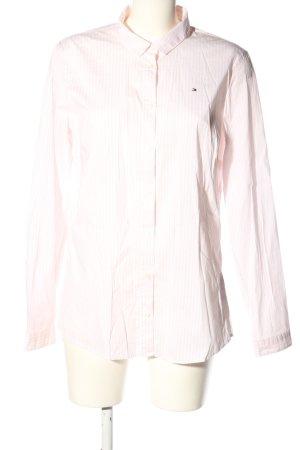 Tommy Hilfiger Langarm-Bluse weiß-pink Streifenmuster Casual-Look