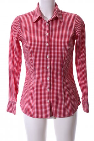 Tommy Hilfiger Langarm-Bluse rot-weiß Allover-Druck Business-Look