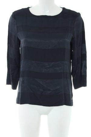 Tommy Hilfiger Langarm-Bluse schwarz Streifenmuster Casual-Look
