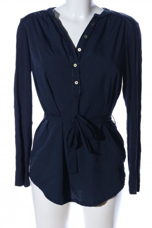 Tommy Hilfiger Langarm-Bluse blau Business-Look