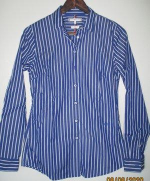 Tommy Hilfiger Langarm-Bluse blau weiß Streifenmuster Business -Look
