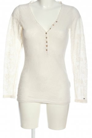 Tommy Hilfiger Langarm-Bluse creme Blumenmuster Casual-Look