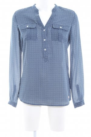 Tommy Hilfiger Long Sleeve Blouse blue-white allover print casual look