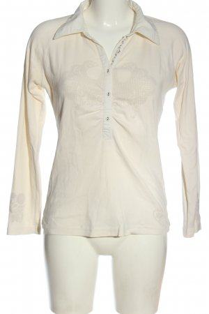 Tommy Hilfiger Langarm-Bluse weiß abstraktes Muster Casual-Look