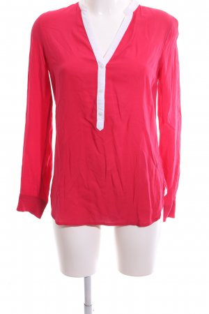 Tommy Hilfiger Langarm-Bluse rot-weiß Casual-Look
