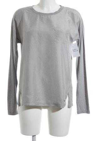 Tommy Hilfiger Langarm-Bluse grauviolett klassischer Stil