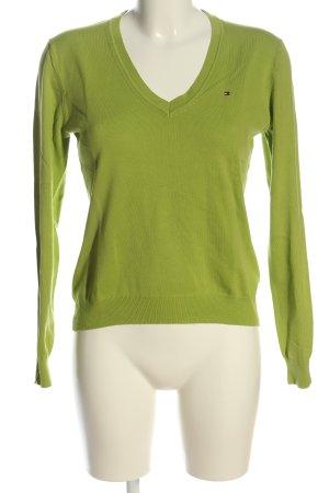 Tommy Hilfiger Langarm-Bluse grün Casual-Look