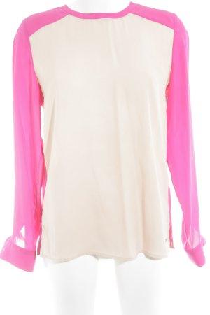Tommy Hilfiger Langarm-Bluse pink-nude Business-Look