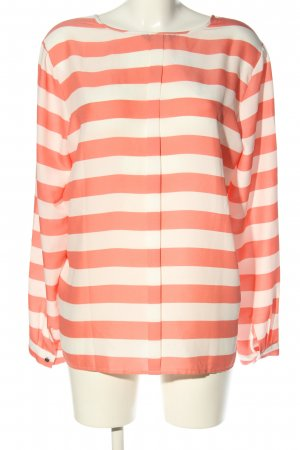 Tommy Hilfiger Langarm-Bluse rot-wollweiß Streifenmuster Casual-Look