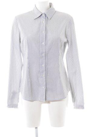 Tommy Hilfiger Langarm-Bluse weiß-schwarz Streifenmuster Casual-Look