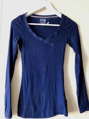 Tommy Hilfiger Camisa con cuello V azul