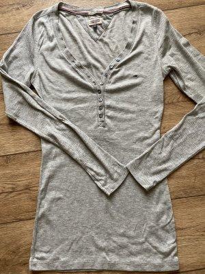Tommy Hilfiger Prążkowana koszulka jasnoszary