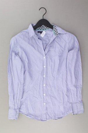 Tommy Hilfiger Langarmbluse Größe UK 10 blau aus Baumwolle