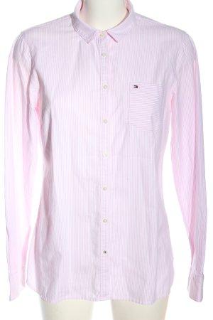 Tommy Hilfiger Camisa de manga larga rosa-blanco look casual