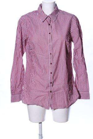 Tommy Hilfiger Langarmhemd weiß-rot Streifenmuster Business-Look