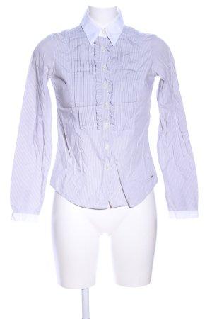 Tommy Hilfiger Langarmhemd hellgrau-weiß Streifenmuster Elegant