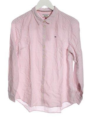 Tommy Hilfiger Langarmhemd pink-weiß Streifenmuster Casual-Look