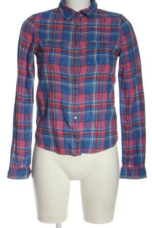 Tommy Hilfiger Langarmhemd blau-pink Allover-Druck Casual-Look