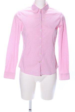 Tommy Hilfiger Shirt met lange mouwen roze-wit geruite print zakelijke stijl