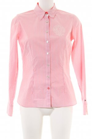 Tommy Hilfiger Langarmhemd rot-creme Motivdruck Casual-Look