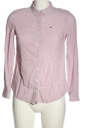 Tommy Hilfiger Langarmhemd braun-weiß Streifenmuster Casual-Look