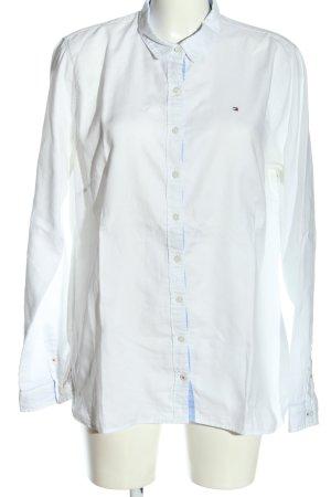 Tommy Hilfiger Chemise à manches longues blanc lettrage brodé