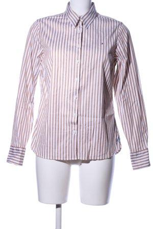 Tommy Hilfiger Chemise à manches longues blanc-brun motif rayé