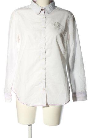 Tommy Hilfiger Chemise à manches longues blanc-gris clair imprimé avec thème