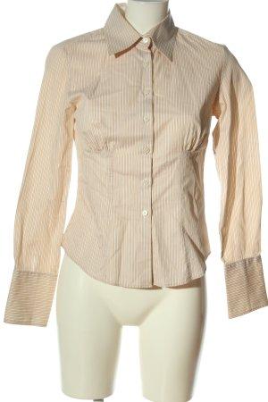 Tommy Hilfiger Langarmhemd creme-weiß Streifenmuster Casual-Look